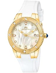 Porsamo Bleu Linda Silicone Gold Tone & White Womens Watch 491BLIR