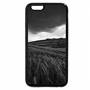 iPhone 6S Case, iPhone 6 Case (Black & White) - Black Clouds