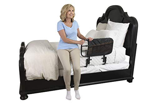 Stander EZ Adjust Bed Rail for Elderly Adults, Home Bed Railing & Assist Handle Folds Down and Extends in Length