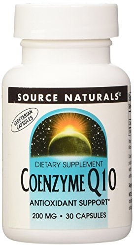 SOURCE NATURALS Coenzyme Q10 200 Mg Vegetable Capsule, 30 Count
