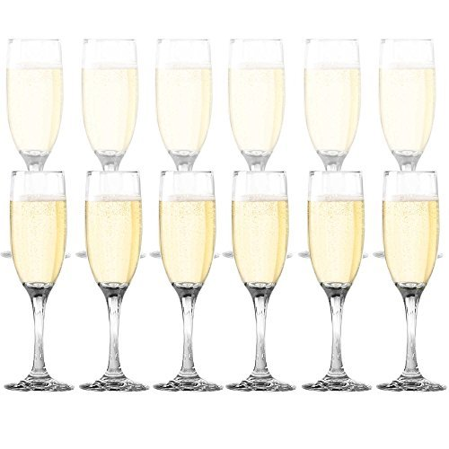 DailywareTM Toasting Flutes (Set of 12), - Sterling Silver Champagne Flutes Shopping Results