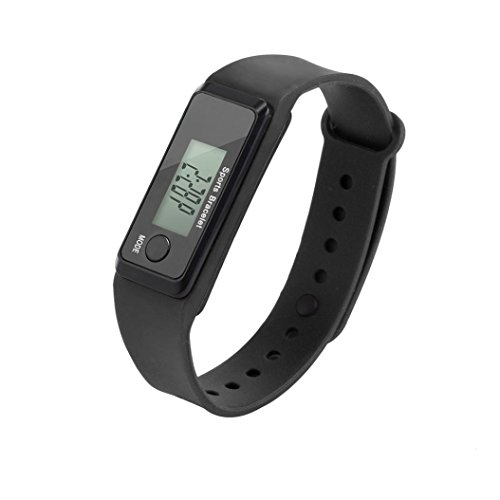 Lavany Fitness Tracker Watch,Pedometer Watch Digital LCD Pedometer Simple Step Counter Walking 3D Pedometer Calorie Counter Watch Bracelet for Kids Adult (Black)