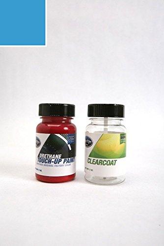 ColorRite Two-Ounce Bottle Nissan Leaf Automotive Touch-up Paint - Planet Blue Tricoat RAT - Color+Clearcoat Package