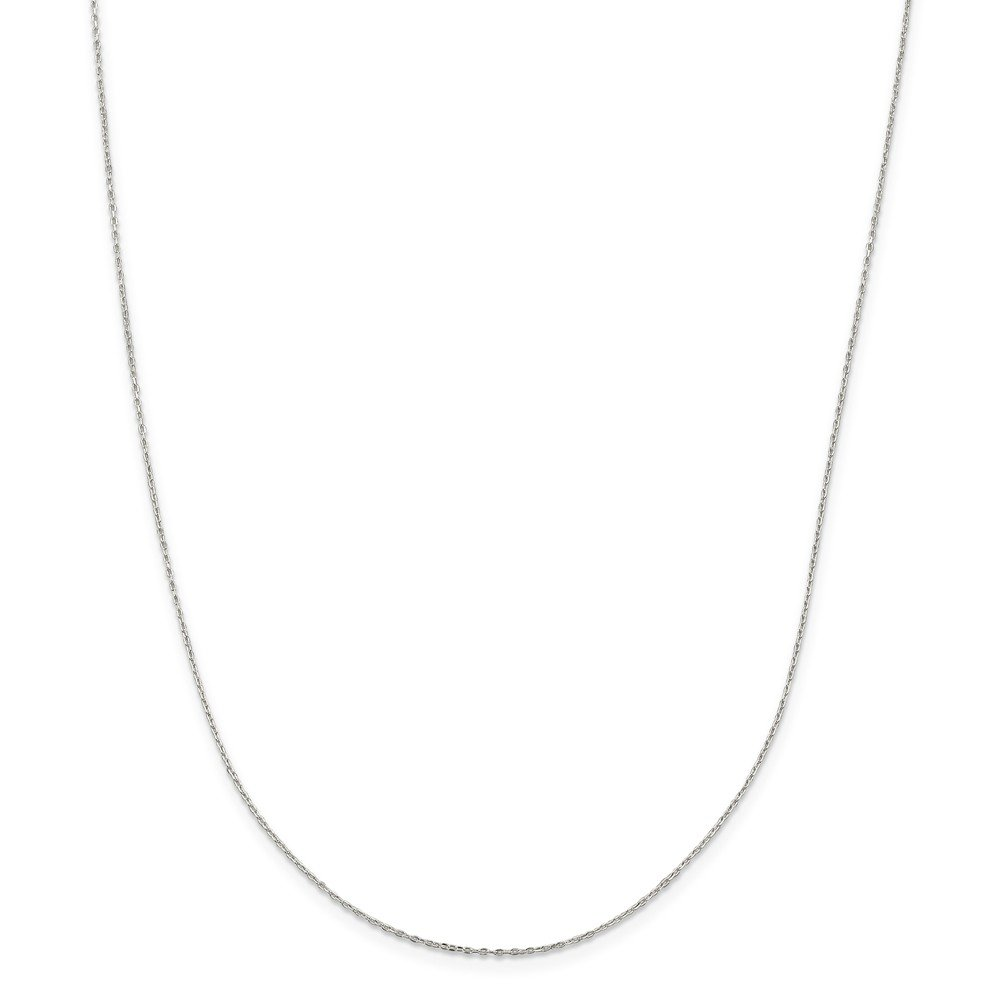 Jewelry Stores Network Sterling Silver 0.6 mm Fancy Cable Chain Necklace