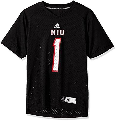 (adidas NCAA Northern Illinois Huskies Adult Men NCAA Replica Football Jersey, Large, Black)