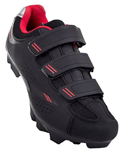 Tommaso Terra 100 Women's Mountain/Fitness SPD Biking Spin Shoe - Black/Red - 39