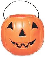 Halloween Pumpkin Jack O' Lantern Candy Bucket (Orange)