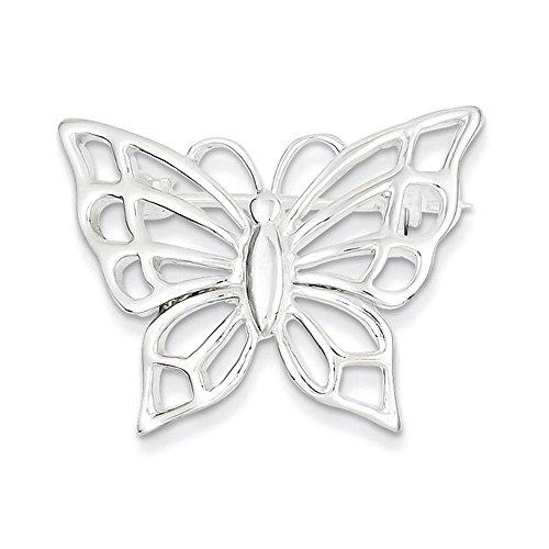 Lex & Lu Sterling Silver Butterfly ()