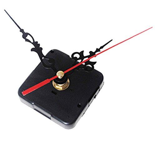 Uspeedy Wall Clock Movement Mechanism, Quartz DIY Wall Clock Movement Mechanisms Battery Powered DIY Repair Parts Replacement (Black 1)