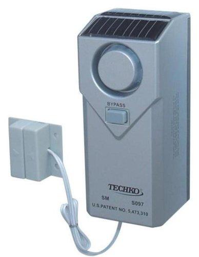 Techko S097 Indoor/Outdoor Pool Alarm, Magnetic Sensor, Solar Powered
