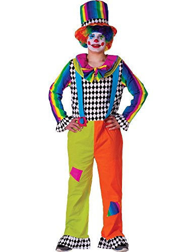 Adult Jolly Clown costume for men - Size Large By Dress Up America (Clown Outfit For Kids)