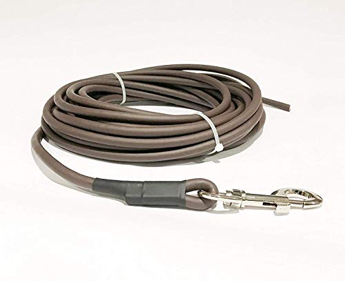 10 Length Length Lead - Dog & Field Biothane Round Training Lead, 10 Meter Length, Brown
