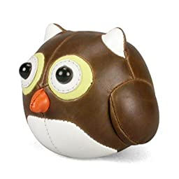 Zuny Bookend - Owl - Brown