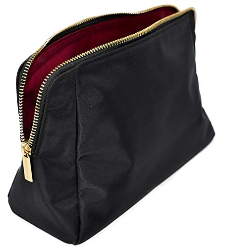 MONTROSE Medium Nylon Cosmetic Makeup Bag for Accessories & Toiletries, Black ()