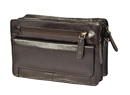 Herren Echtes Leder Handgelenktasche Clutch Reise Braun Cab Geld Mobile Veranstalter Mann Tasche A210 YuoOxg6