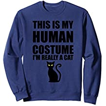 This Is My Human Costume I'm Really Cat Sweatshirt