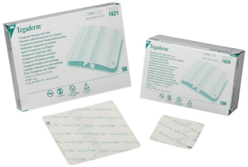 (3M 1621 Tegaderm Transparent Film Dressing First Aid Style (Pack of 50))