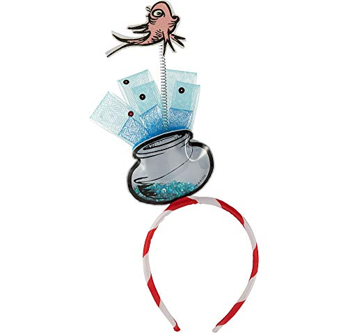 Costumes USA Cat in the Hat Fish Bowl Head Bopper for Kids, Dr. Seuss Costume Accessories, One Size