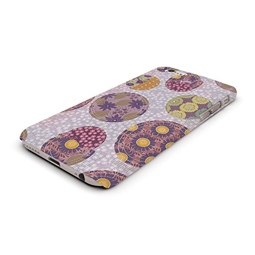 Koveru Back Cover Case for Apple iPhone 6 - Purple Fabric Pattern
