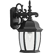 Designers Fountain 2421-BK Tiverton 8 Inch Wall Lantern