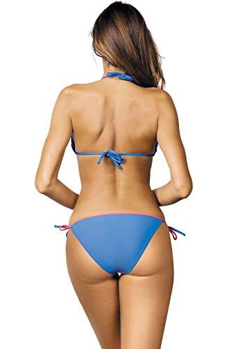 427 blu Liscio Morbide Pezzi Coppe Ferretti Fabbricato Uniforme In Anis Senza Due Bikini Rosa Marko M Ue a4AwqxE