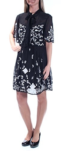 French Connection 228 Womens New 1319 Black Beaded Fit + Flare Dress 2 B+B (French Connection Beaded Dress)