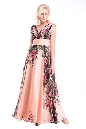 Imprimé Floral Femmes Mousseline De Longues Robes De Soirée