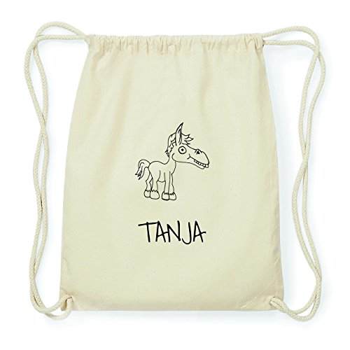 JOllipets TANJA Hipster Turnbeutel Tasche Rucksack aus Baumwolle Design: Pferd
