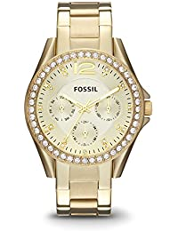 Womens ES3203 Riley Multifunction Gold-Tone Stainless Steel Watch
