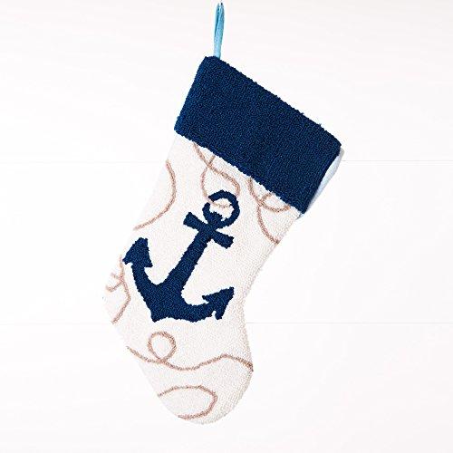 Glitzhome Handmade Nautical Hooked Anchor Christmas -