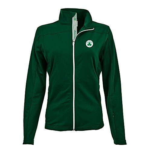 NBA Boston Celtics Adult Women Aurora Team Script Half Zip,Medium,Rider Green