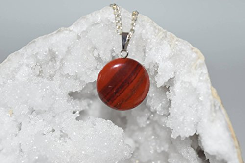 Nature's Enlightenment Red Jasper Crystal Pendant- Reiki, Healing, Meditation, Crystal Grid, Pagan, Wicca, Spells, Protection ()