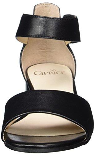 Caprice 28212, Sandalias con Cuña para Mujer Negro (Black Nappa)