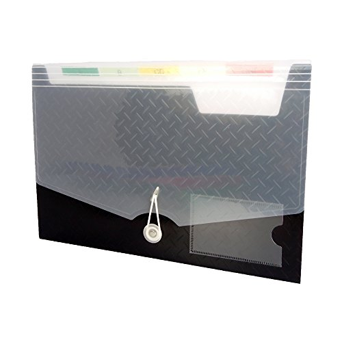 Lightahead LA-7558 Expanding file Folder with 6 pockets Available in Colors Blue, Pink, Green, Black (BLACK) Photo #3