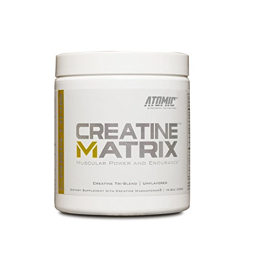 Atomic Strength Nutrition Creatine Matrix, Muscular Power & Endurance Supplement, 60 Servings