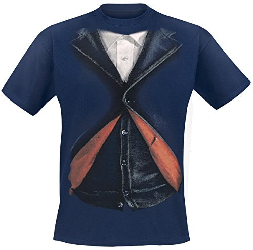 [Doctor Who Peter Capaldi 12th Doctor Costume T-Shirt (Extra Large, Blue)] (Peter Capaldi Twelfth Doctor Costume)