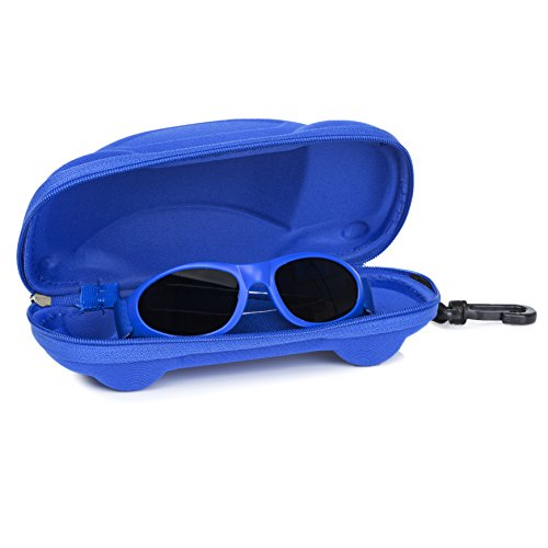 Little Llama Baby Sunglasses (0 to 2 Years) with Adjustable Strap and Case -- UVA / UVB Protection - - Goggles Baby Sun