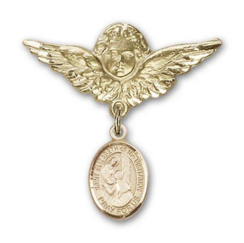 Icecarats Or Bijoux De Créateurs Rempli R. Elizabeth De La Broche De Badge Ange Charme De Visite