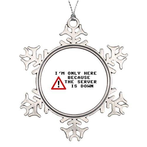 Acove I'm Only Here Because The Server is Down Ideas for Decorating Christmas Trees Thanksgiving Christmas Snowflake Ornaments 3 inch