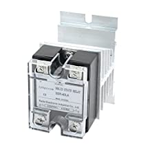 uxcell® 4-20mA to AC28-280V 40A One Phase Aluminum Heat Sink Solid State Relay Digital Temperature Controller