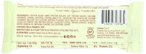 ThinkThin Chocolate Espresso, Gluten Free, 2.1-Ounce Bars (Pack of 15)