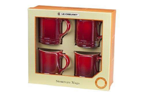 Le Creuset Mugs, Cherry, Set of 4