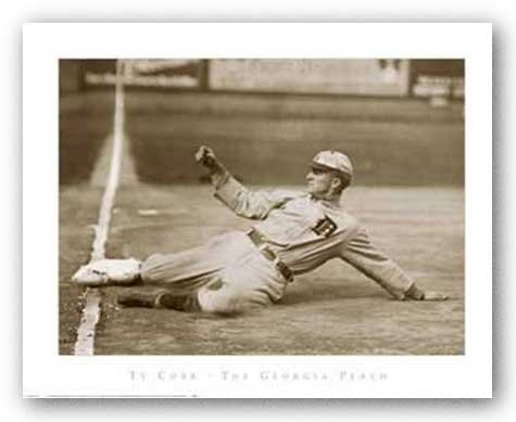 Ty Cobb - The Georgia Peach by Anonymous Art Print Poster