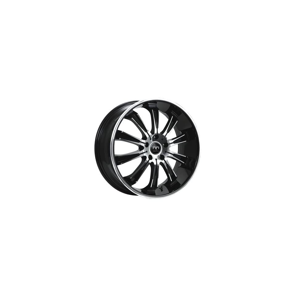 Motiv Maximus 20x8.5 Chrome Black Wheel / Rim 5x120 with a 35mm Offset and a 74.10 Hub Bore. Partnumber 405CB 2851235