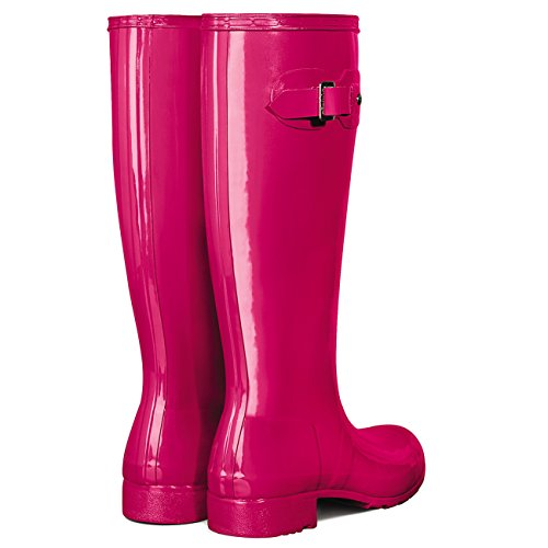 Cerise Tour Bright Galoshes Hunter Boots Gloss Snow Womens Original Wellingtons Rain Pwpqvx1E