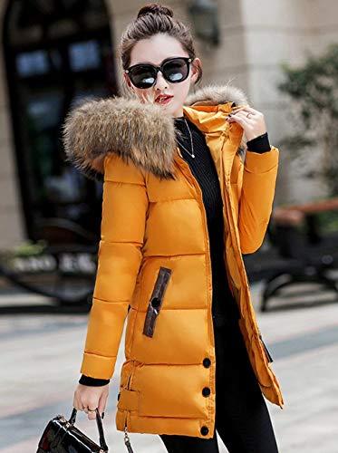 Longue Capuchon Doudoune Hiver Manteau Femme Fourrure avec Taille Grande Warm Parka qU78vAw
