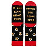 MaxFox Men Women Sole Letter Cotton Sock''If you can'' letter Printed Athletic Stockings Funny Crew Mid Calf Socks (Red)