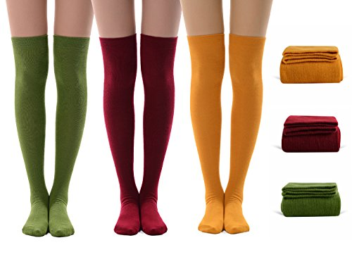 Girls' Long Stocking, MEIKAN Women's Cute Athlete Thin