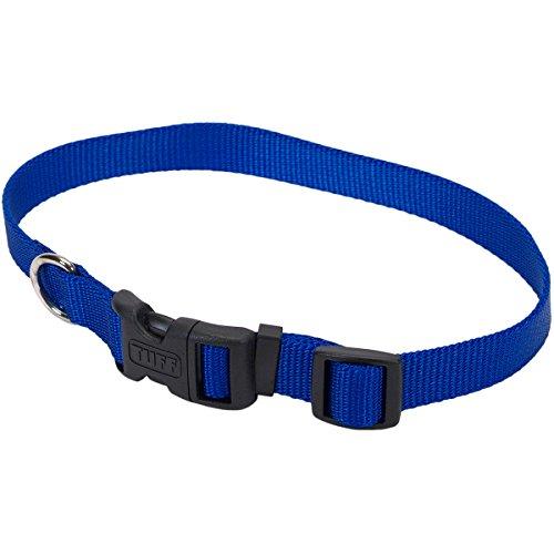Dog Supplies C Nyl Adjustable Tuff Collar Md 3 4  Blu