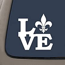"NI270 Fleur De Lis Love Decal | 5.2"" X 5"" 